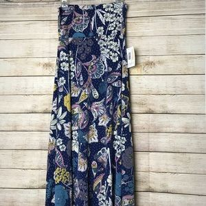 NWT blue print maxi skirt